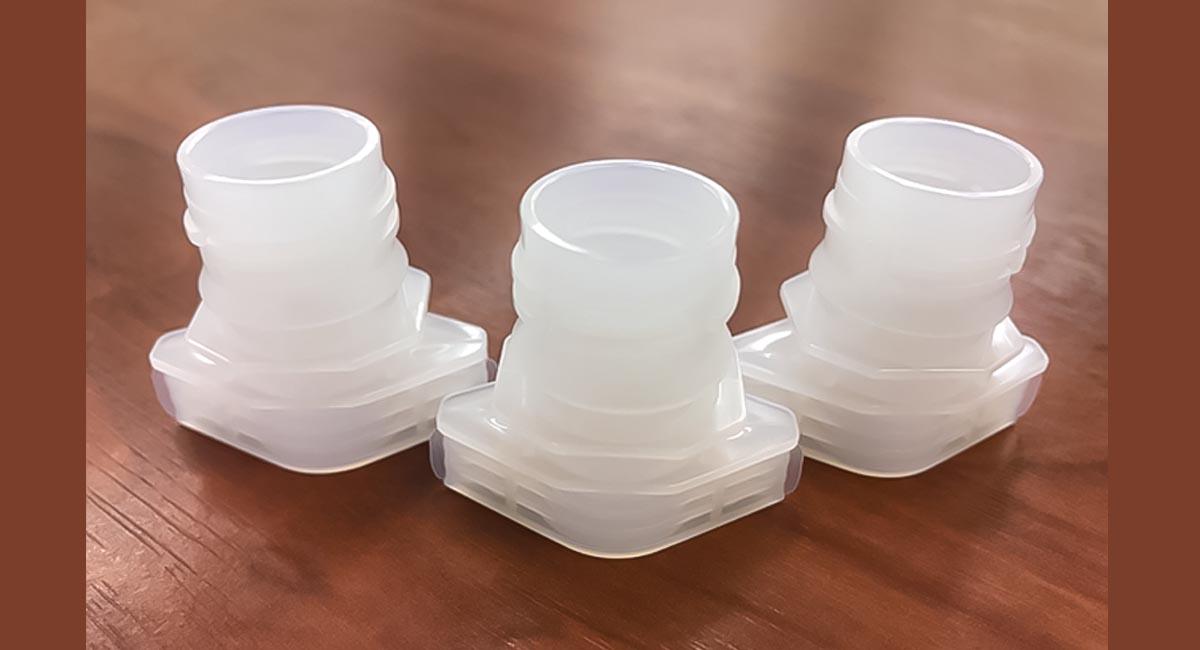 バイオマス樹脂で制作されたスパウト