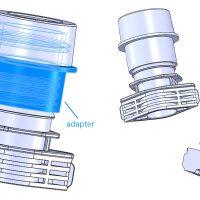 AS16スパウトポンプ用アダプター設計