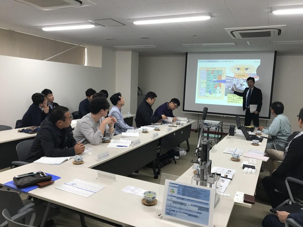 斗山重工業へのアスカカンパニーの考え方のご説明。